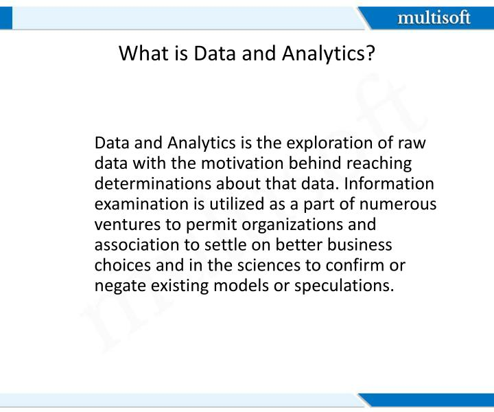 What is data and analytics