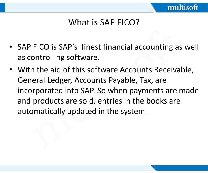 What is sap fico