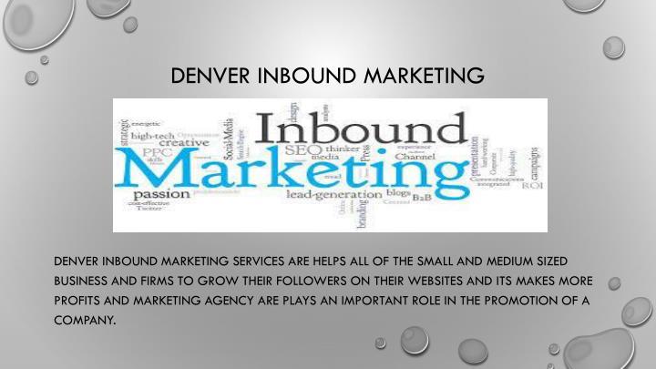 Denver inbound marketing