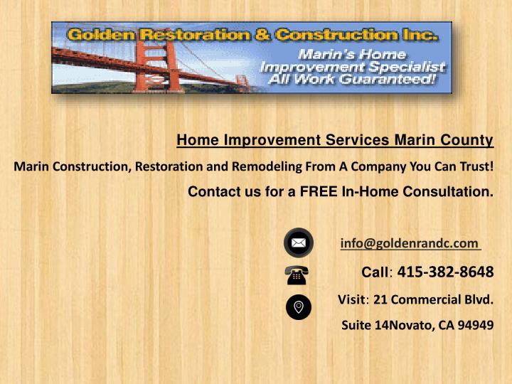 Home Improvement Services Marin County