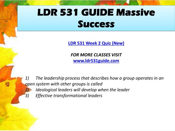 LDR 531 GUIDE Massive Success
