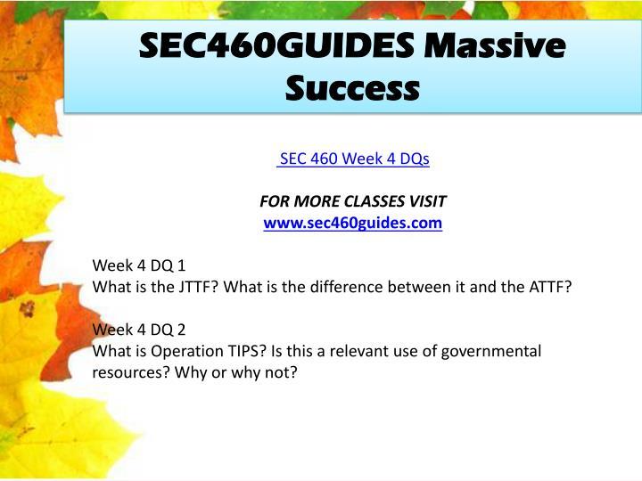 SEC460GUIDES Massive Success