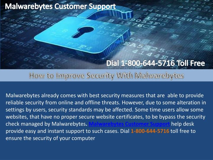 Malwarebytes Customer Support