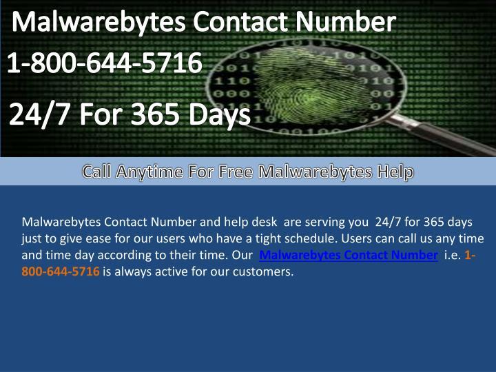 Malwarebytes Contact Number