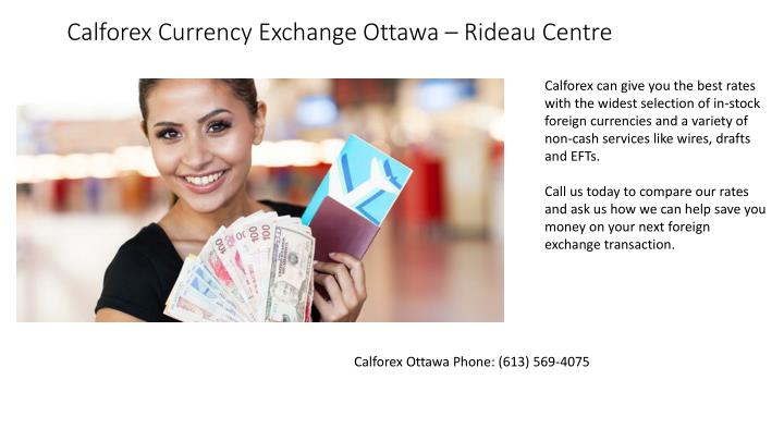 Calforex Currency Exchange Ottawa Rideau Centre
