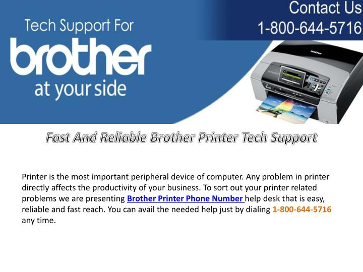 Fast And Reliable Brother Printer Tech Support