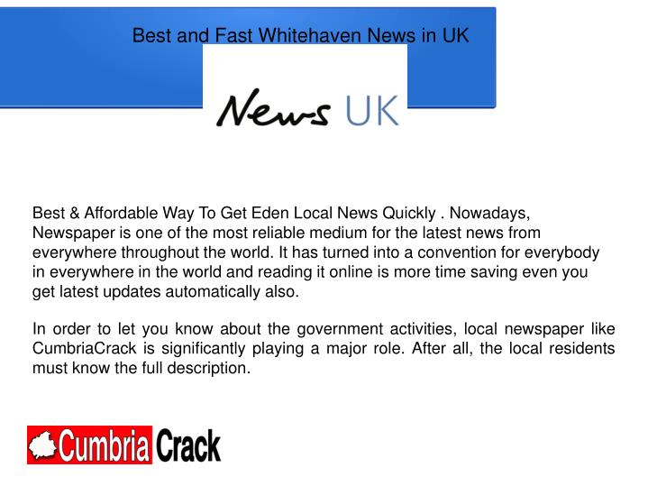 Best and Fast Whitehaven News in UK