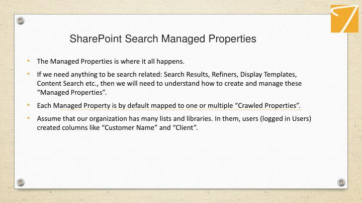 SharePointSearch Managed Properties