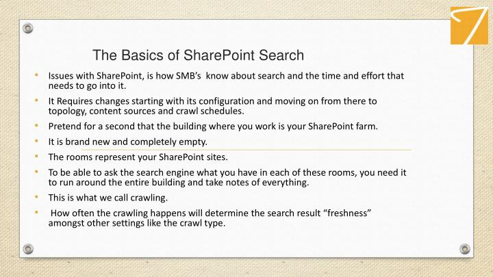The Basics ofSharePointSearch