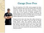 garage door pros