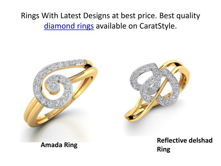 Rings with latest designs at best price best quality diamond rings available on caratstyle