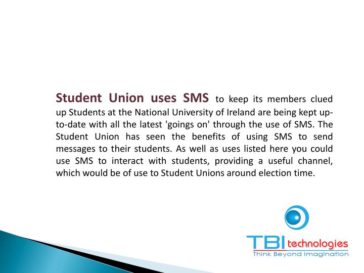 Student Union uses SMS