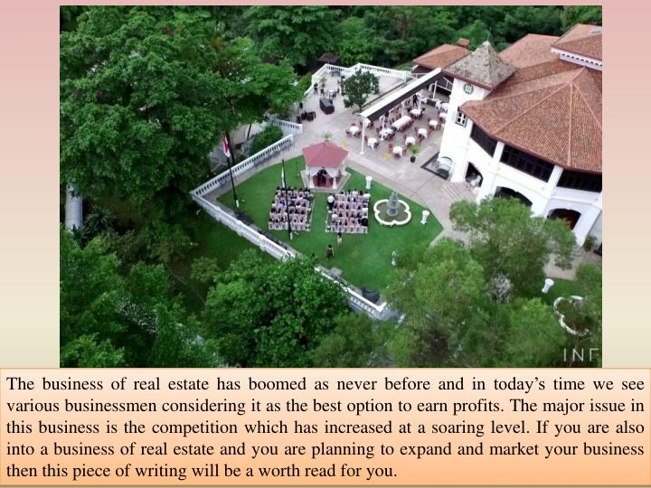 The business of real estate has boomed as never before and in today's time we see various business...