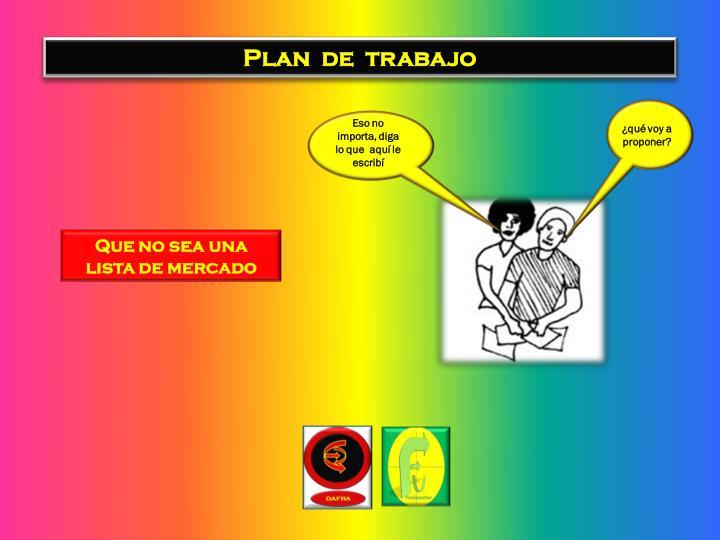 Plan  de  trabajo