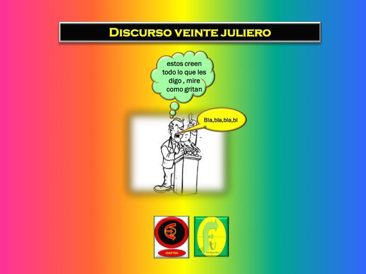 Discurso veinte juliero