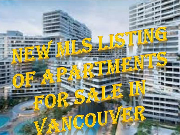 new mls listing of apartments for sale in vancouver n.