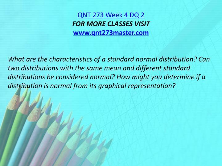QNT 273 Week 4 DQ 2