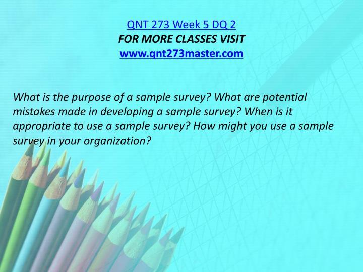 QNT 273 Week 5 DQ 2