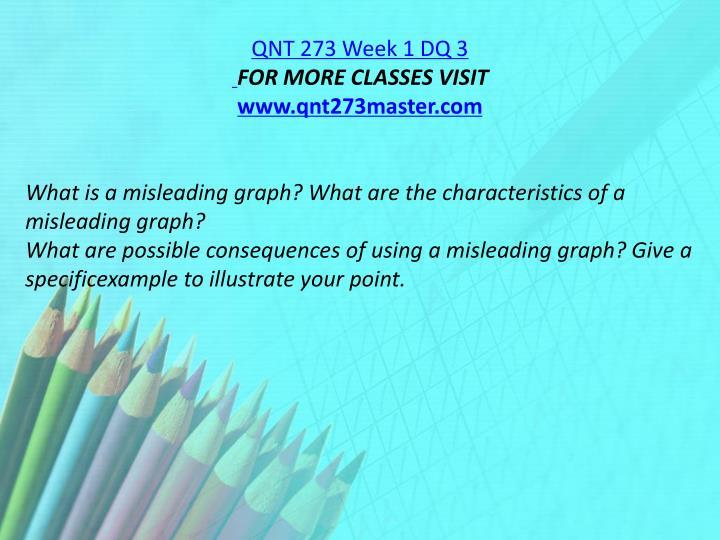 QNT 273 Week 1 DQ 3