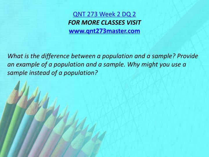 QNT 273 Week 2 DQ 2