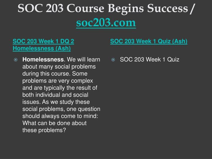 Soc 203 course begins success soc203 com2