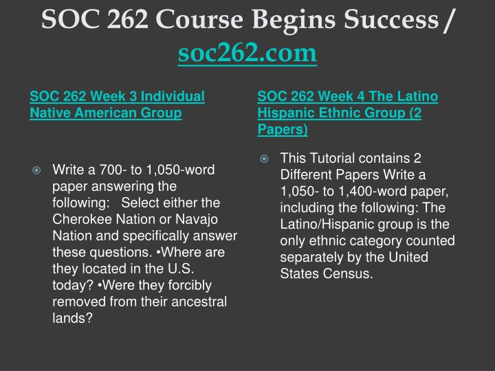 Soc 262 course begins success soc262 com2