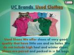 uc brands used clothes