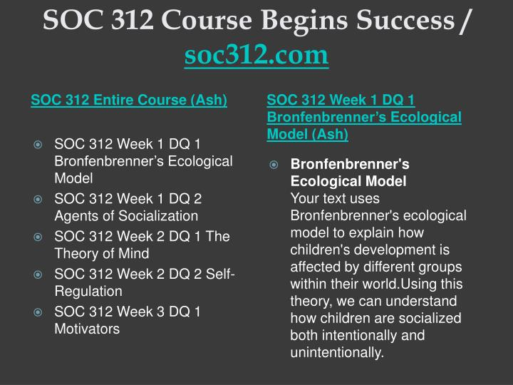 Soc 312 course begins success soc312 com1