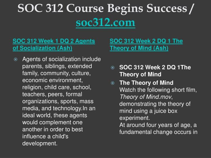 Soc 312 course begins success soc312 com2