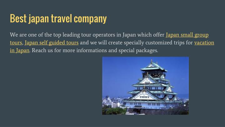 Best japan travel company