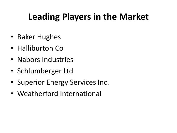 Leading Players in the Market