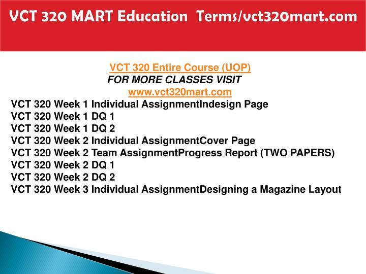Vct 320 mart education terms vct320mart com1