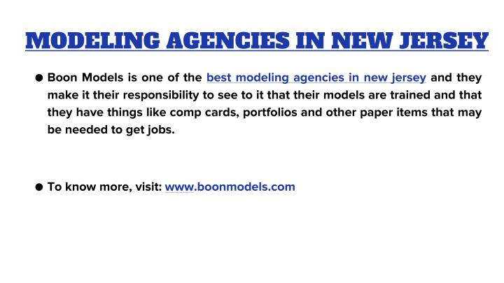 MODELING AGENCIES IN NEW JERSEY