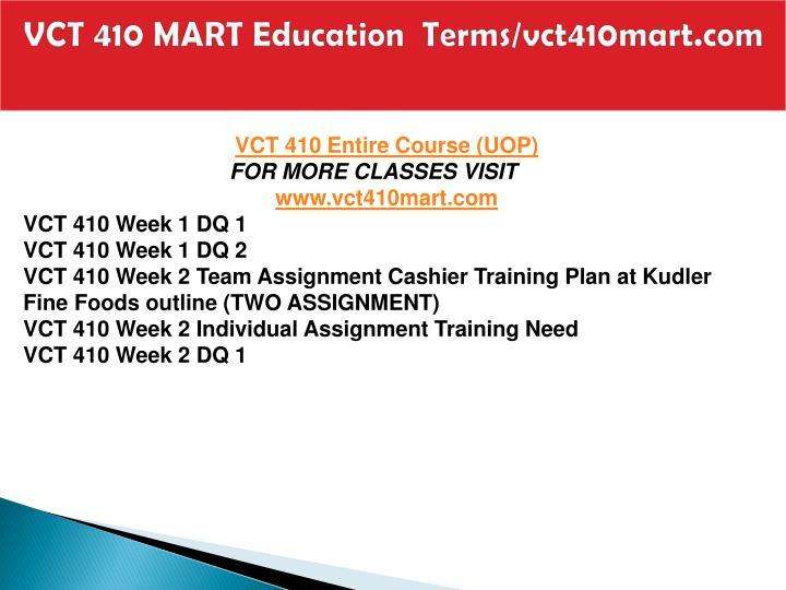 Vct 410 mart education terms vct410mart com1