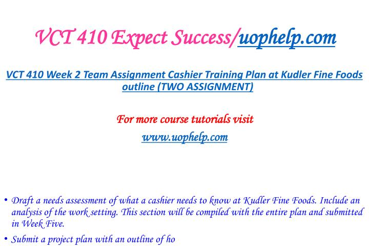 VCT 410 Expect Success/
