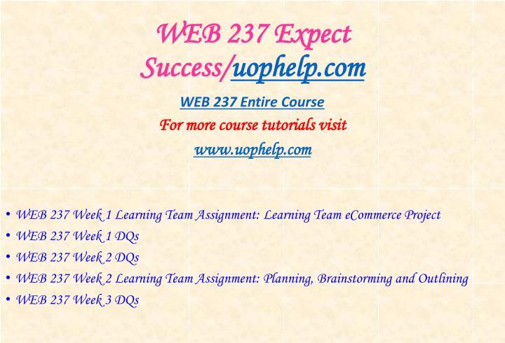 Web 237 expect success uophelp com1