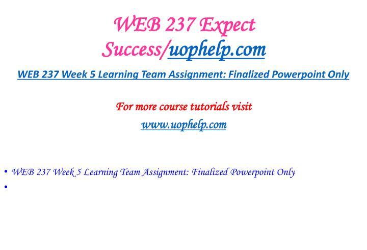 WEB 237 Expect Success/