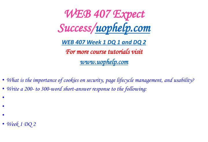 Web 407 expect success uophelp com2