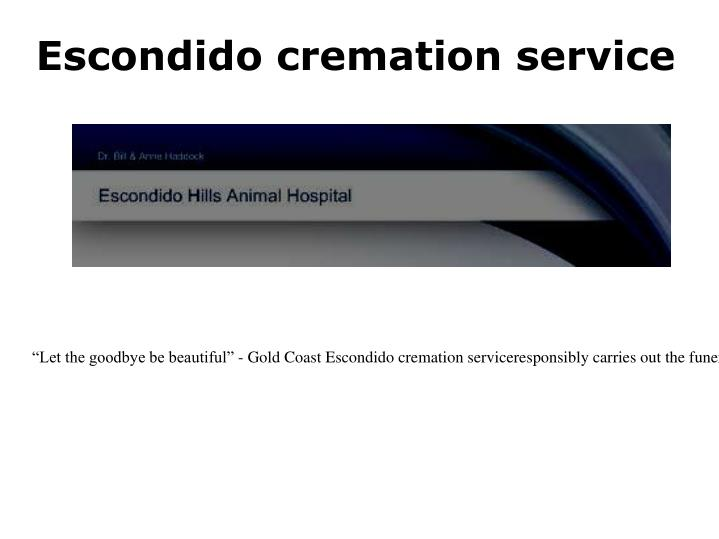 Escondido cremation service