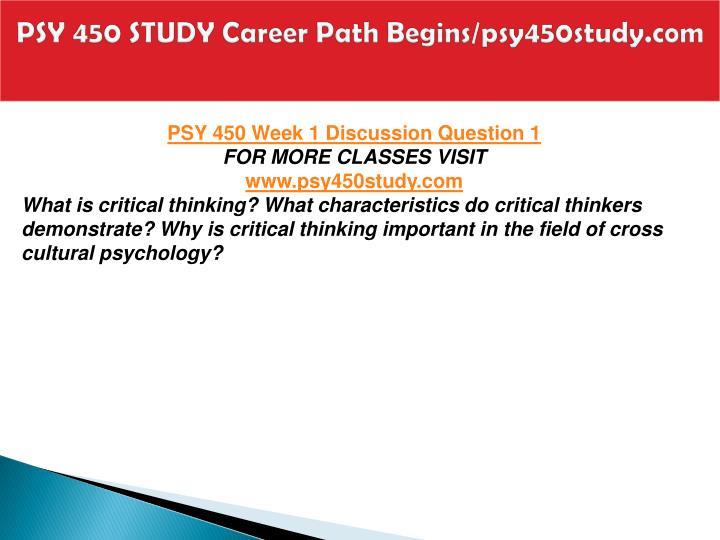 Psy 450 study career path begins psy450study com2