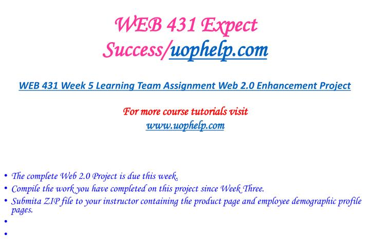 WEB 431 Expect Success/