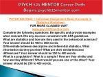 psych 625 mentor career path begins psych625mentor com3