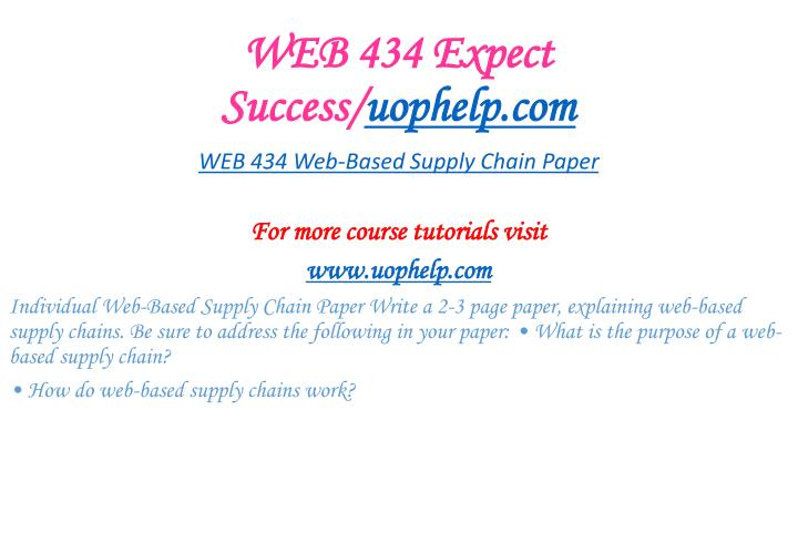 WEB 434 Expect Success/