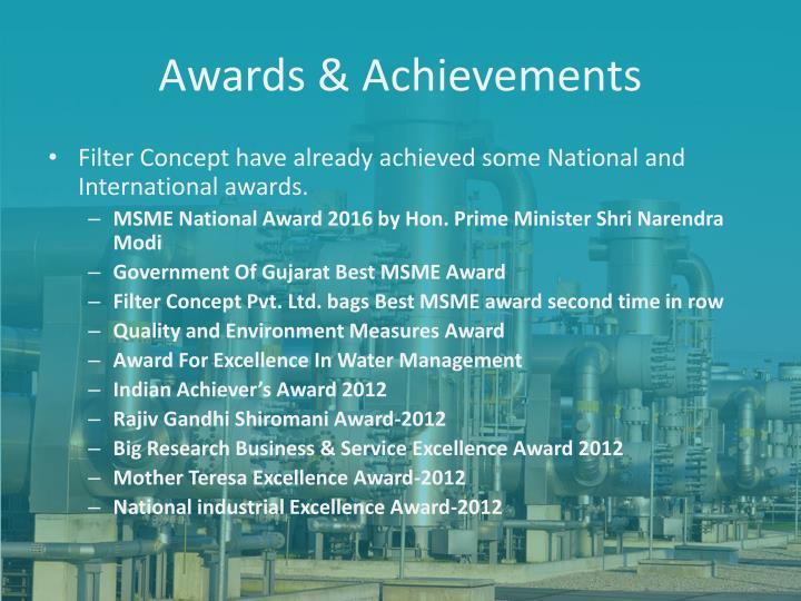 Awards & Achievements