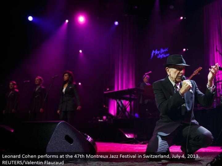 Leonard Cohen performs at the 47th Montreux Jazz Festival in Switzerland, July 4, 2013. REUTERS/Valentin Flauraud
