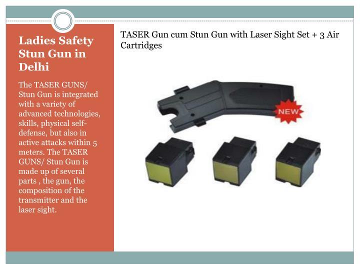 TASER Gun cum Stun Gun with Laser Sight Set + 3 Air Cartridges