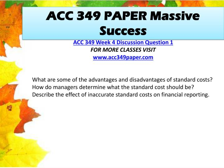 ACC 349 PAPER Massive Success