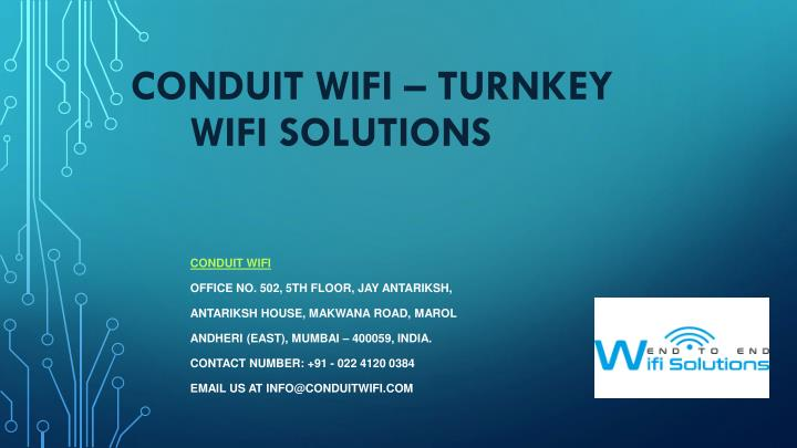 conduit wifi turnkey wifi solutions n.