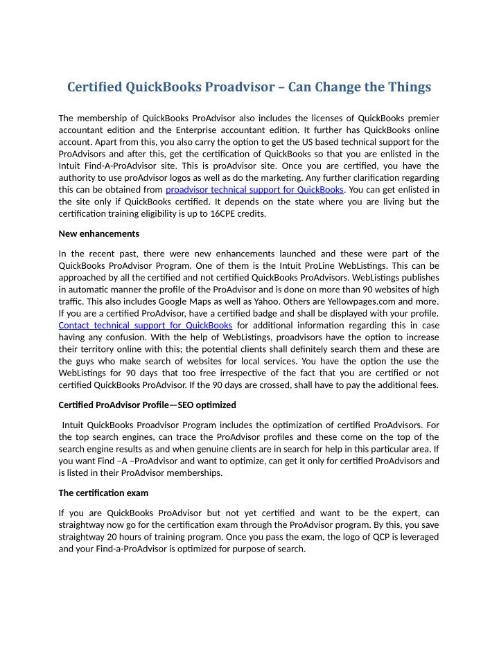 Ppt Certified Quickbooks Proadvisor Can Change The Things
