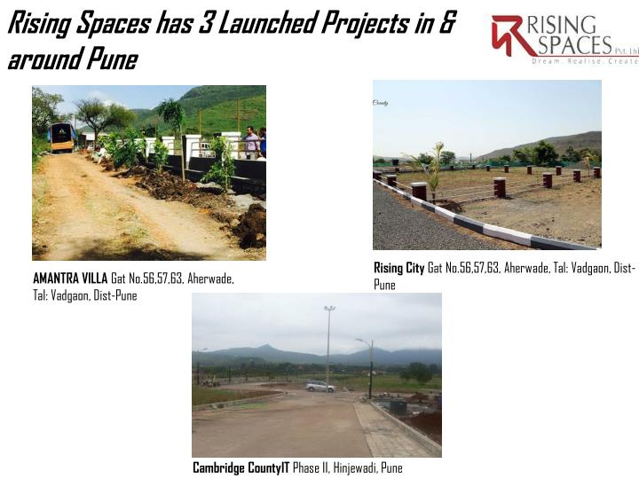 Rising Spaces has 3 Launched Projects in & around
